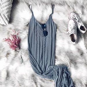 🌿 F21 Striped Maxi Dress 🌿